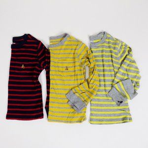 lot of 3 gap striped long sleeve playtime red blue
